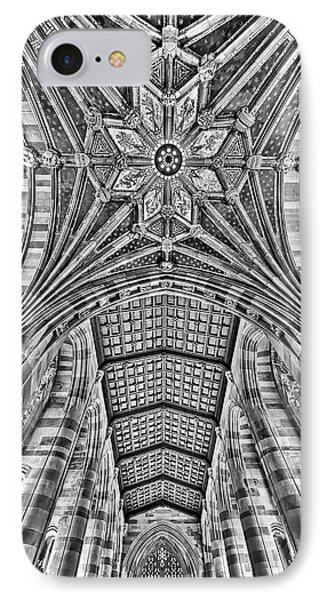 IPhone Case featuring the photograph Yale University Sterling Library Bw by Susan Candelario