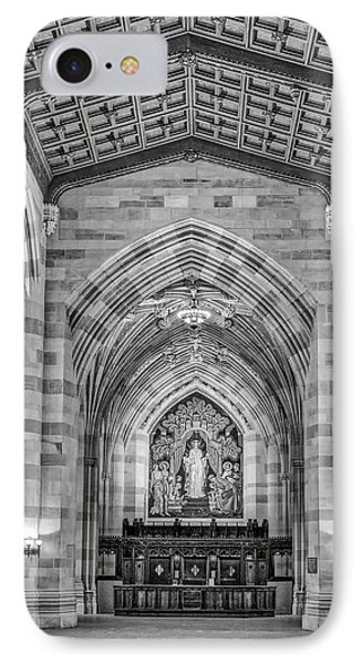 IPhone Case featuring the photograph Yale University Sterling Memorial Library Bw  by Susan Candelario
