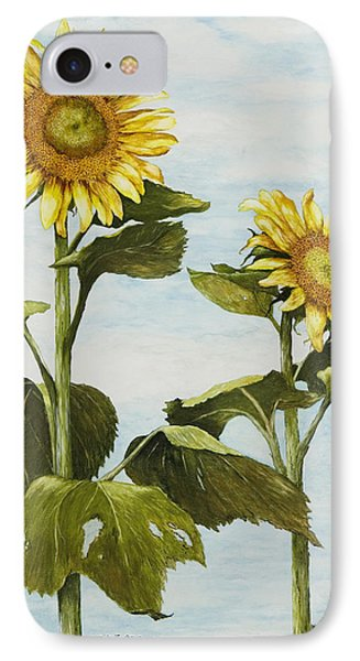 Yana's Sunflowers Phone Case by Mary Ann King