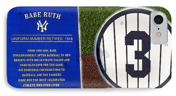 Yankee Legends Number 3 Phone Case by David Lee Thompson