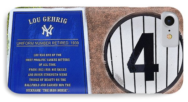 Yankee Legends Number 4 Phone Case by David Lee Thompson