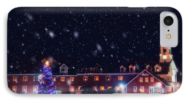 Yankee Magazine - Christmas In New England - White Steeple In Snow IPhone Case by Joann Vitali