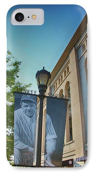 Yankee Stadium Babe Ruth Plaza IPhone Case by Nishanth Gopinathan