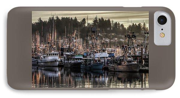 Yaquina Bay Boat Basin At Dawn IPhone Case by Thom Zehrfeld