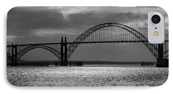 Yaquina Bay Bridge Black And White IPhone Case