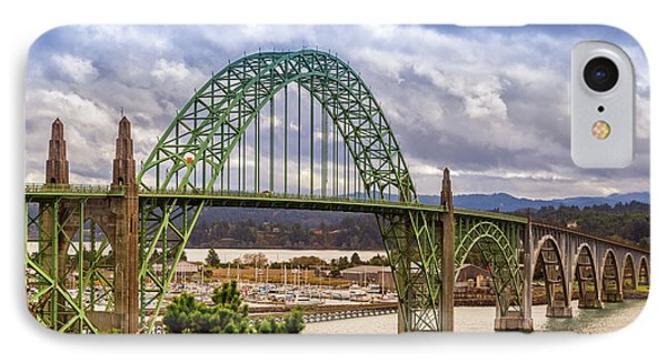 IPhone Case featuring the photograph Yaquina Bay Bridge by James Eddy