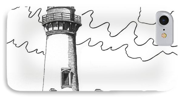 Yaquina Head Lighthouse IPhone Case by Lawrence Tripoli