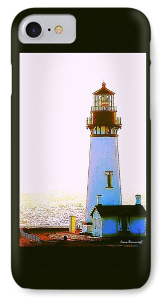 Yaquina Head Lighthouse IPhone Case by Steve Warnstaff
