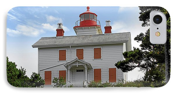 Yaquina Lighthouses - Yaquina Bay Lighthouse Oregon Phone Case by Christine Till