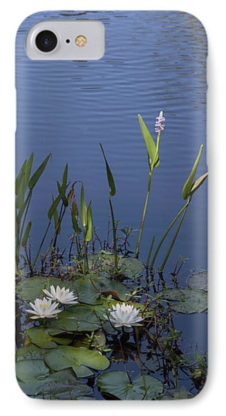 IPhone Case featuring the photograph Yawkey Wildlife Reguge Water Lilies With Rare Plant by Suzanne Gaff