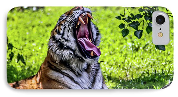 IPhone Case featuring the photograph Yawning Tiger by Joann Copeland-Paul