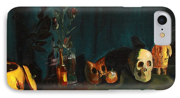 IPhone Case featuring the painting Yeah Its Halloween by Jane Autry