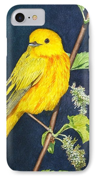 Yelllow Warbler Phone Case by Sharon Farber