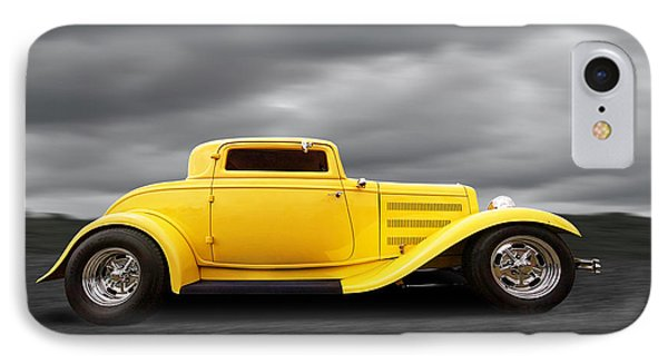 Yellow 32 Ford Deuce Coupe IPhone Case by Gill Billington