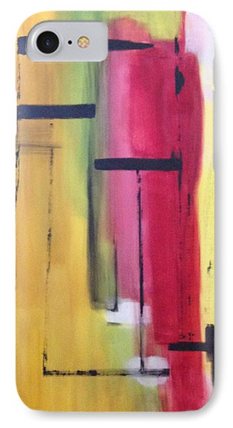 IPhone Case featuring the painting Yellow Abstract by Patricia Cleasby