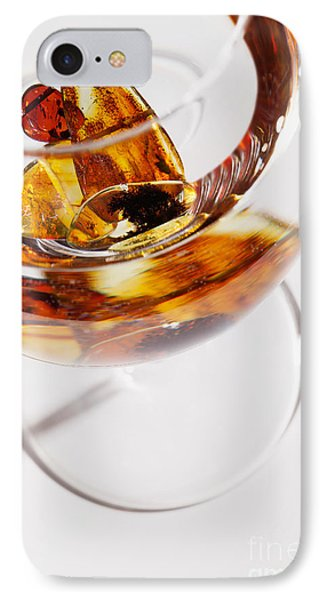 IPhone Case featuring the photograph Yellow Amber Stones In A Glass. by Andrey  Godyaykin