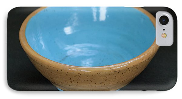 Yellow And Blue Ceramic Bowl IPhone Case by Suzanne Gaff