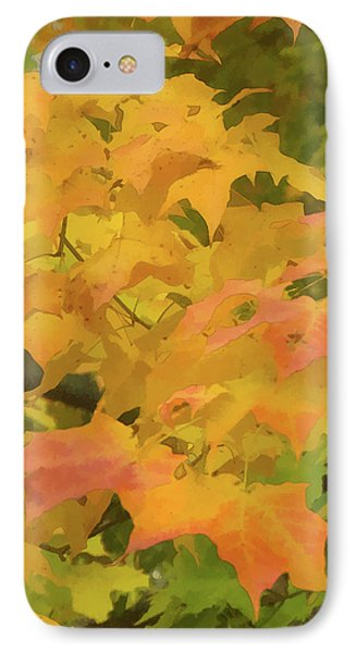 IPhone Case featuring the photograph Yellow And Green Fall Leaves by Michael Flood