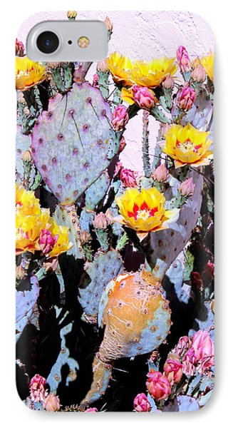 Yellow And Red Flower IPhone Case by M Diane Bonaparte