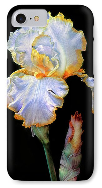 Yellow And White Iris IPhone Case by Dave Mills