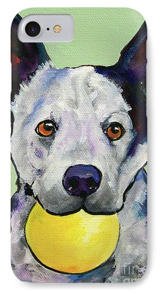 Yellow Ball Phone Case by Pat Saunders-White