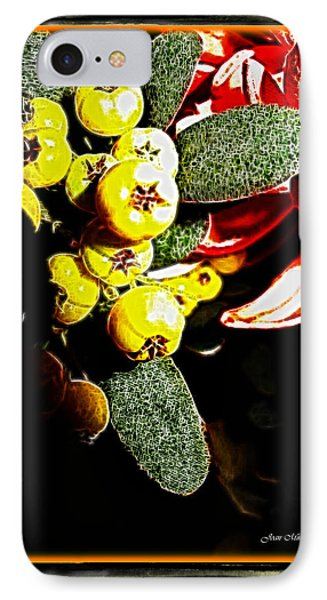 IPhone Case featuring the photograph Yellow Berries by Joan  Minchak