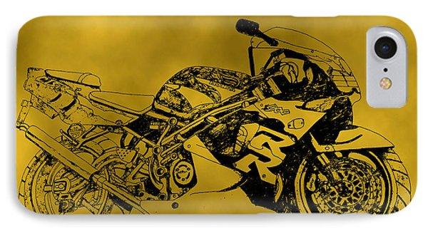 Yellow Bike IPhone Case by Stephen Brooks