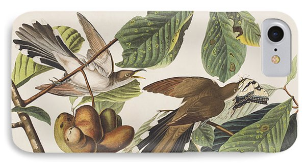 Cuckoo iPhone 7 Case - Yellow Billed Cuckoo by John James Audubon