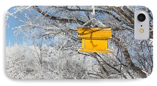 Yellow Bird House IPhone Case by Pat Purdy