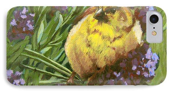 IPhone Case featuring the painting Yellow Bird by Karen Ilari
