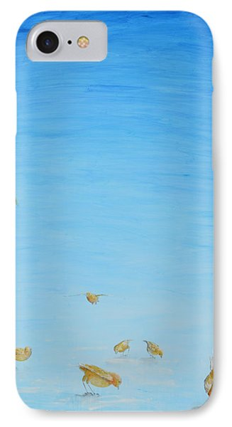 IPhone Case featuring the painting Yellow Birds In The Blue2 by Nik Helbig
