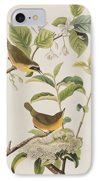 Yellow-breasted Warbler IPhone 7 Case by John James Audubon