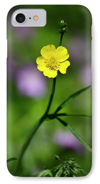 Yellow Buttercup Phone Case by Christina Rollo