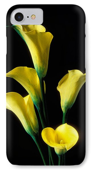 Lily iPhone 7 Case - Yellow Calla Lilies  by Garry Gay