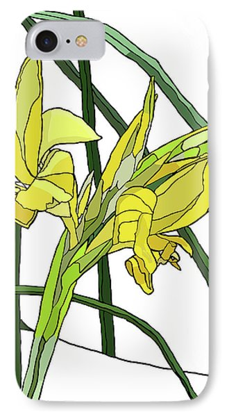 Yellow Canna Lilies IPhone Case by Jamie Downs