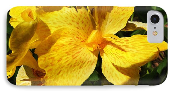 Yellow Canna Lily Phone Case by Shawna Rowe