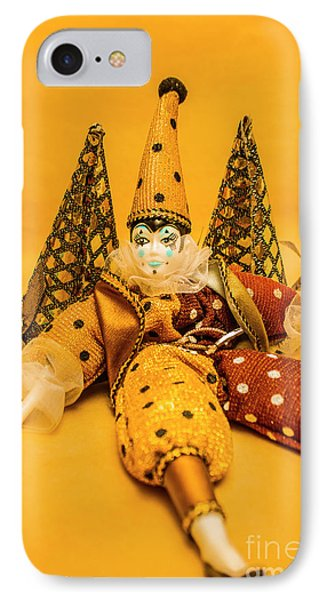 Yellow Carnival Clown Doll IPhone Case by Jorgo Photography - Wall Art Gallery