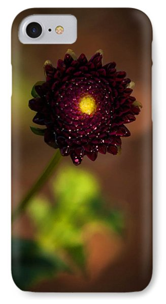 IPhone Case featuring the photograph Yellow Center by Cherie Duran
