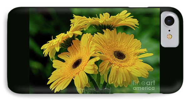 IPhone Case featuring the photograph Yellow Chrysanthemums By Kaye Menner by Kaye Menner