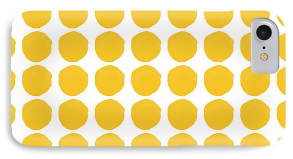 Yellow Circles- Art By Linda Woods IPhone Case by Linda Woods