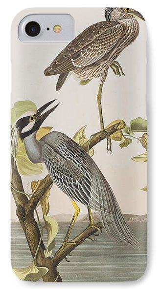 Yellow Crowned Heron IPhone 7 Case by John James Audubon