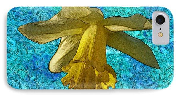 Yellow Daffodil 3 Phone Case by Jean Bernard Roussilhe
