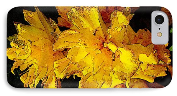 Yellow Daffodils 4 Phone Case by Jean Bernard Roussilhe