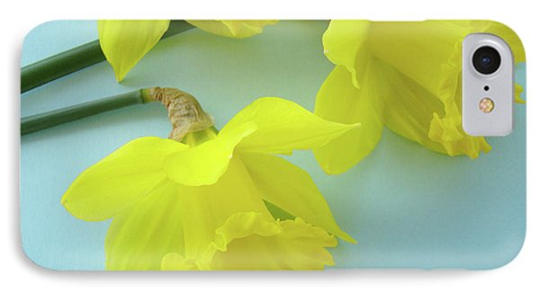 Yellow Daffodils Artwork Spring Flowers Art Prints Nature Floral Art Phone Case by Baslee Troutman