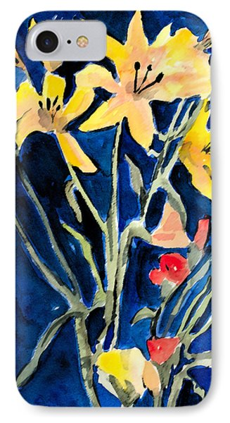 Yellow Daylilies Phone Case by Arline Wagner