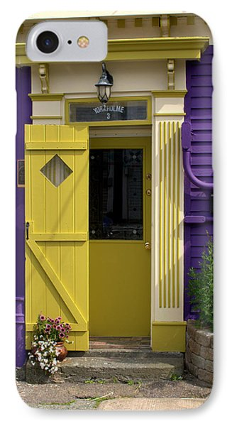 Yellow Door IPhone Case by Douglas Pike