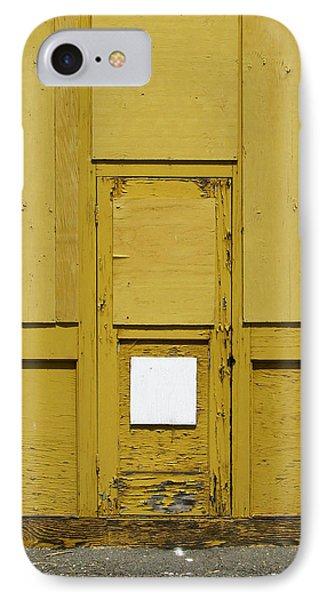 Yellow Door With Accent IPhone Case