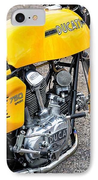Yellow Ducati IPhone Case by Tim Gainey