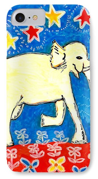 Yellow Elephant Facing Right IPhone Case