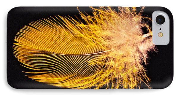 Yellow Feather Macro IPhone Case
